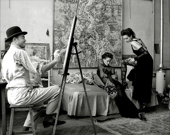Photo by Mark Arbeit for Helmut Newton exhibit