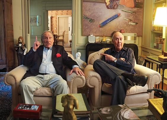 Mel Brooks and Carl Reiner, Jan 2013