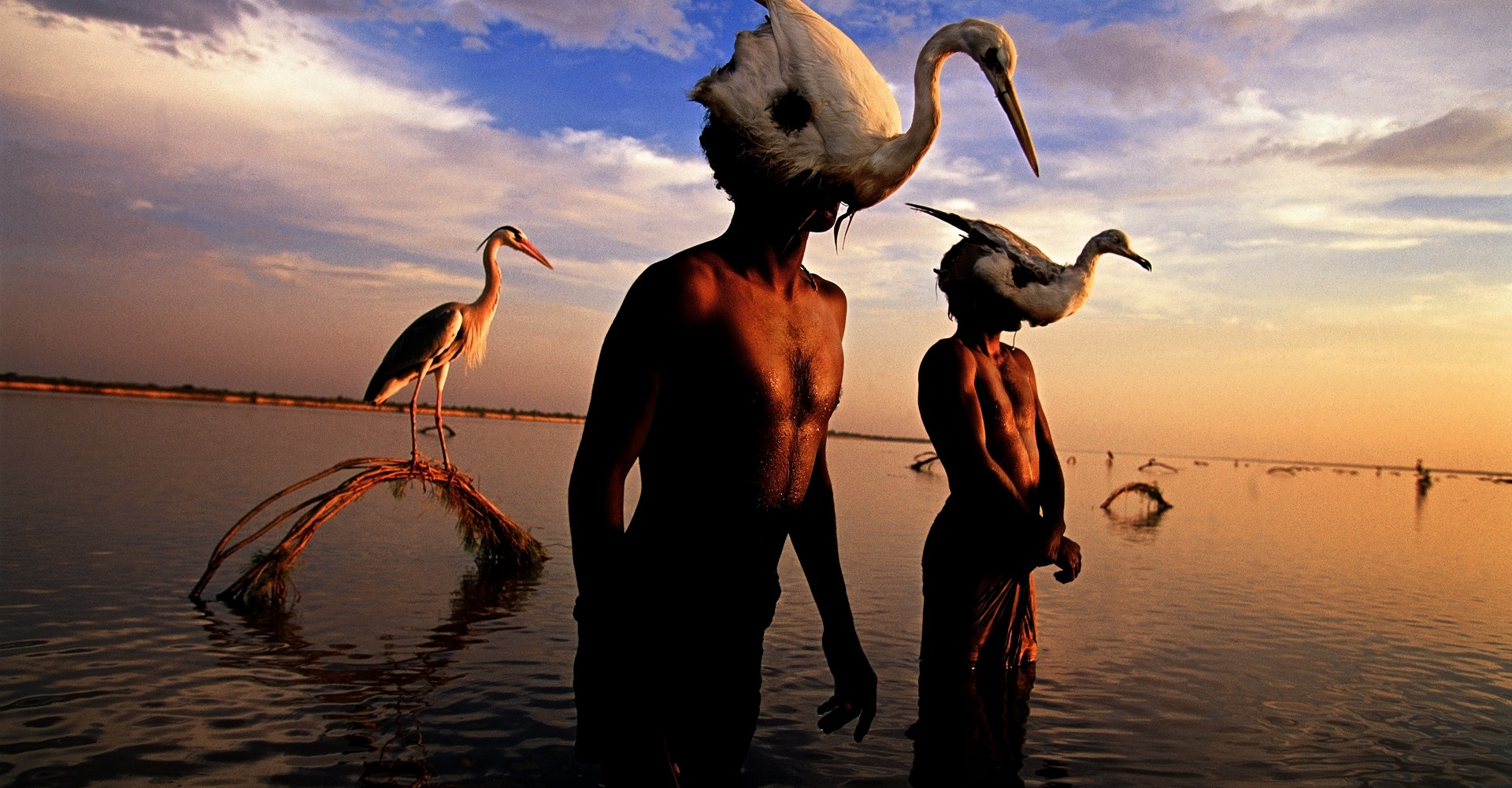 Bird Hunters, Indus River - Mohenjo Daro, Pakistan