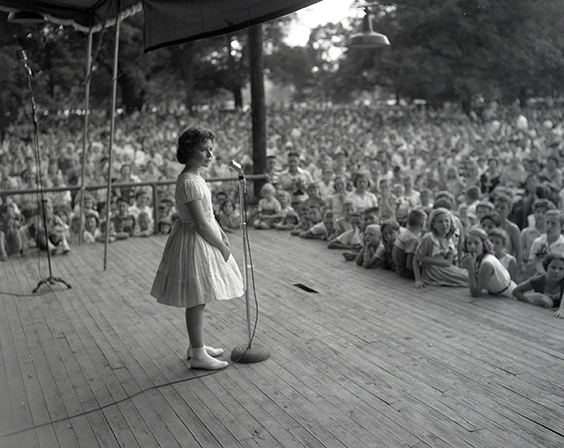 Brenda Lee in 1957, at age 12, in her first Nashville performance