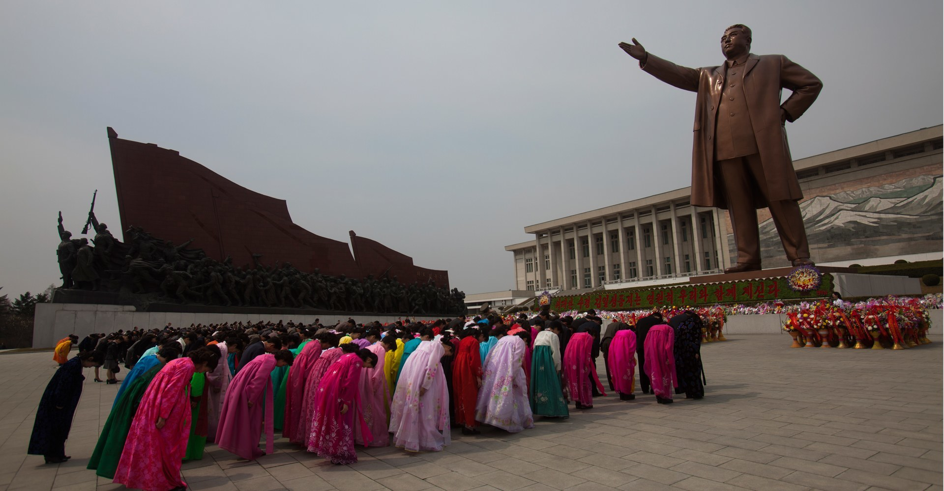 Kim Il Sung Monument - Pyongyang, North Korea