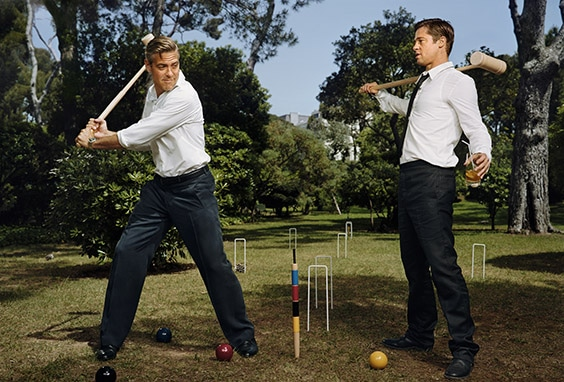 Brad Pitt & George Clooney, Editorial for EW, Antibes, France 05/24/07